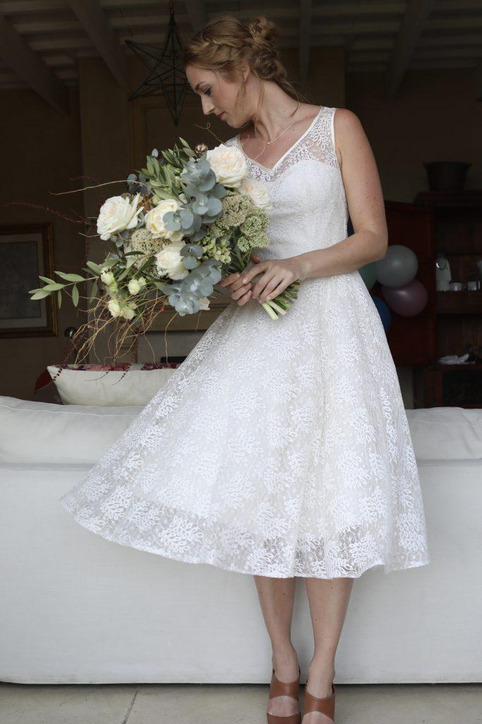 bruidsjurk jaren 50 vermaakt